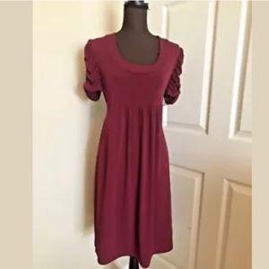 🛍DUO | Maternity Burgundy Wrap Dress